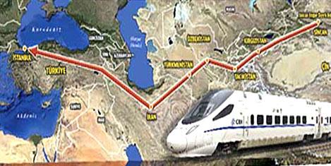 Çin'den İstanbul'a hızlı tren