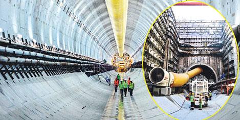 Avrasya Tüneli 850 metreye ulaştı
