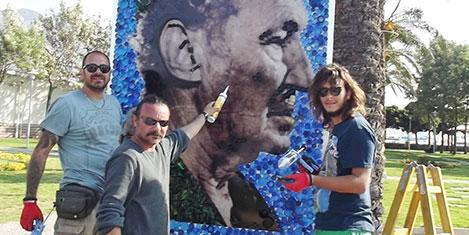 Turgutreis D-Marin'de Çöp Sanatı