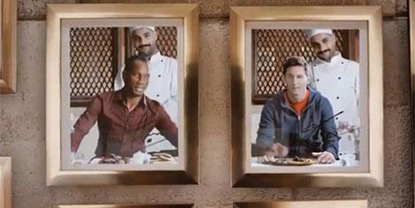 Drogba ve Messi THY reklamında