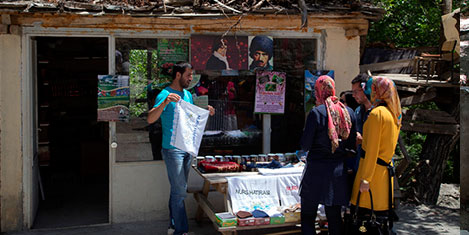 Nurs Köyü'ne ziyaretçi akını