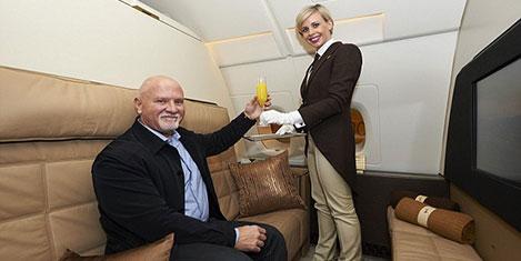 Dünyanın en pahalı uçan yolcusu