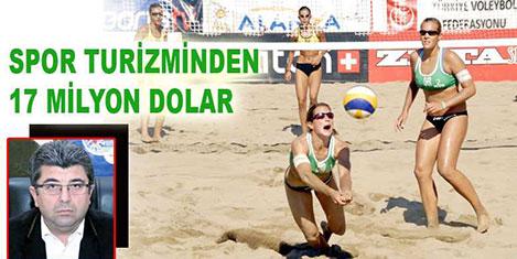 Spor turizminden 17 milyon dolar