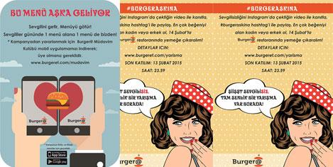 Burger@'ten Sevgilisizler Yarışması!