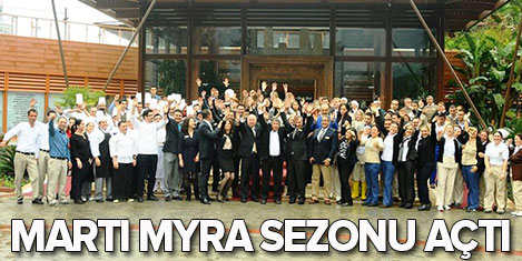 Martı Myra Oteli sezonu açtı