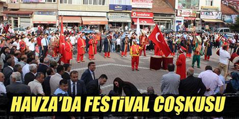 Havza'da Atatürk festivalde anıldı