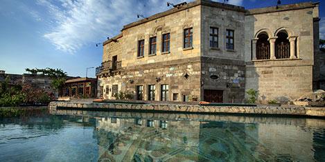 Kapadokya'de müzede tatil