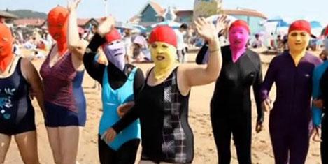 Çin'de yeni moda: Yüz bikinisi
