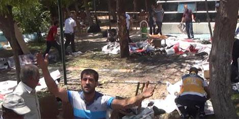 Suruç'ta canlı bombalı saldırısı