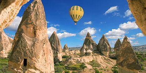 Kapadokya'da 7 ayda düşüş %12