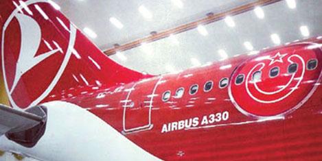 THY uçağı ile yatırım reklamı