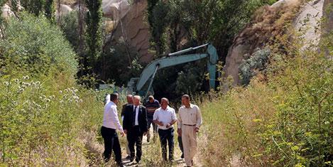 Ortahisar'da peri bacası tahribi