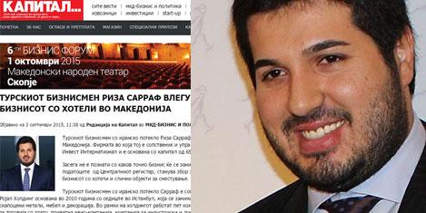 Zarrab Makedonya'da otel açıyor