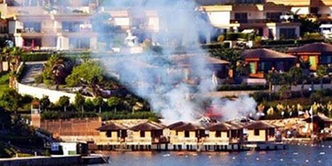Bodrum'da lüks otelde yangın