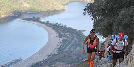Likya Yolu Ultra Maratonu start aldı
