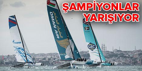 Şampiyon yelkenciler İstanbul'da