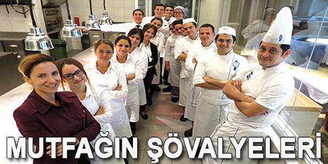 Özyeğin'de şövalye aşçılar yetişiyor