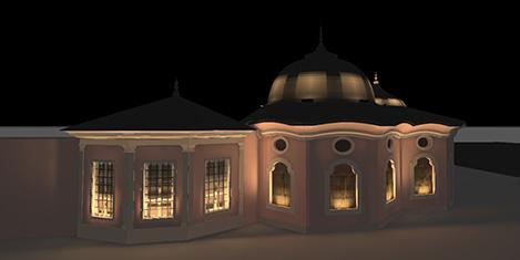 Tarihi yapılar, aydınlatılmalı