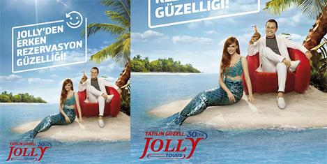Jolly Tur reklam yüzü Serdar Ortaç