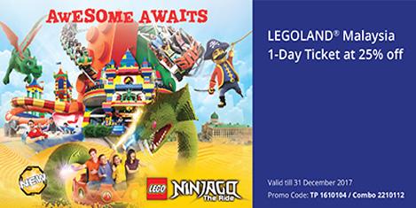 Legoland Malezya'da %25 indirim