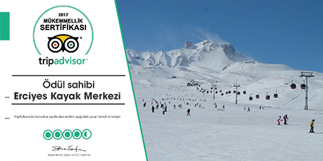 Erciyes Kayak Merkezi'ne ödül