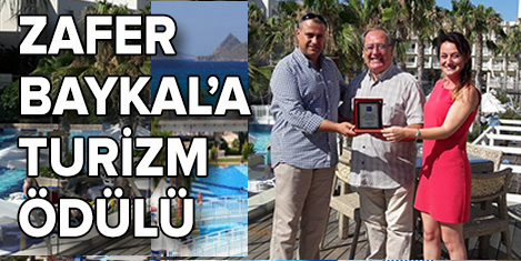 Zafer Baykal'a turizm ödülü