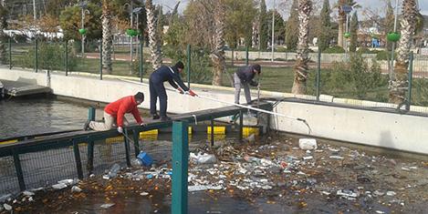 Teos Marina'da kanal temizliği