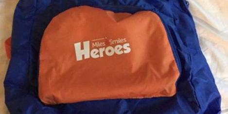 THY'den 'Heroes' yazılı çanta