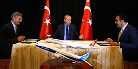Erdoğan THY-Boeing imza töreninde