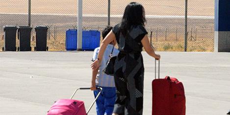 Erbil'den son uçuş yapıldı