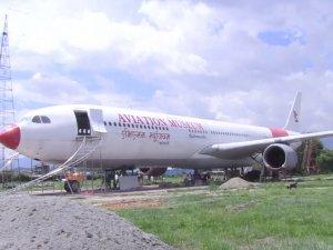 THY uçağı Nepal Havacılık Müzesioldu