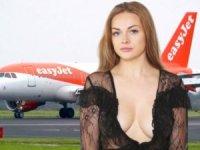 Derin gögüs dekolteli kadın uçaktan atıldı