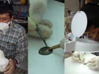 Side Müzesi'ndeki eserleri tek başına restore etti