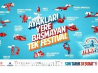 Atatürk Havalimanı'nda hava trafiğine 'TEKNOFEST' ayarı