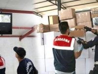 Otel deposunda 1800 litre kaçak içki ele geçirildi