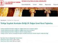 Bakanlık Türsab'ın Genel Kurulu başvuru formlarını iptal etti