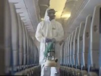 THY uçakları dezenfekte ediliyor