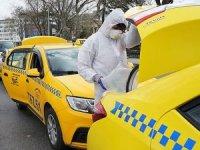 İstanbul'da taksiler dezenfekte edildi