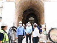 Şehzade Korkut Camiiahşap işlemeleri göz dolduruyor