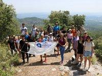Antalya'da gençler, doğa ile başbaşa kaldı