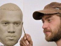 Madame Tussauds Müzesi'nde Kanye West hazırlığı