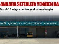 Çorlu-Ankara seferleri yeniden başlıyor
