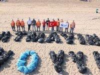 Konyaaltı ve Lara plajlarında kıyı ve dip temizliğiyapıldı