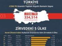 Türkiye, ülke uzantılı alan adı kullanımında dünya lideri