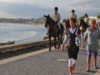 Yabancı dil bilen atlı jandarmalar Nevşehir'e döndü