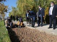 Gölbaşı Belediyesi binlerce laleyi toprakla buluşturdu