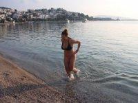 Bodrum'da, kısıtlamada turistlerin deniz keyfi