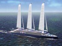 Yelkenlerle güçlendirilecek çevre dostu yolcu gemileri