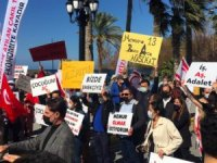 KKTC'de turizm sektörü çalışanları yürüyüş yaptı