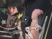 Uçakta yolcuları rahatsız eden kadın, koltuğa bağlandı